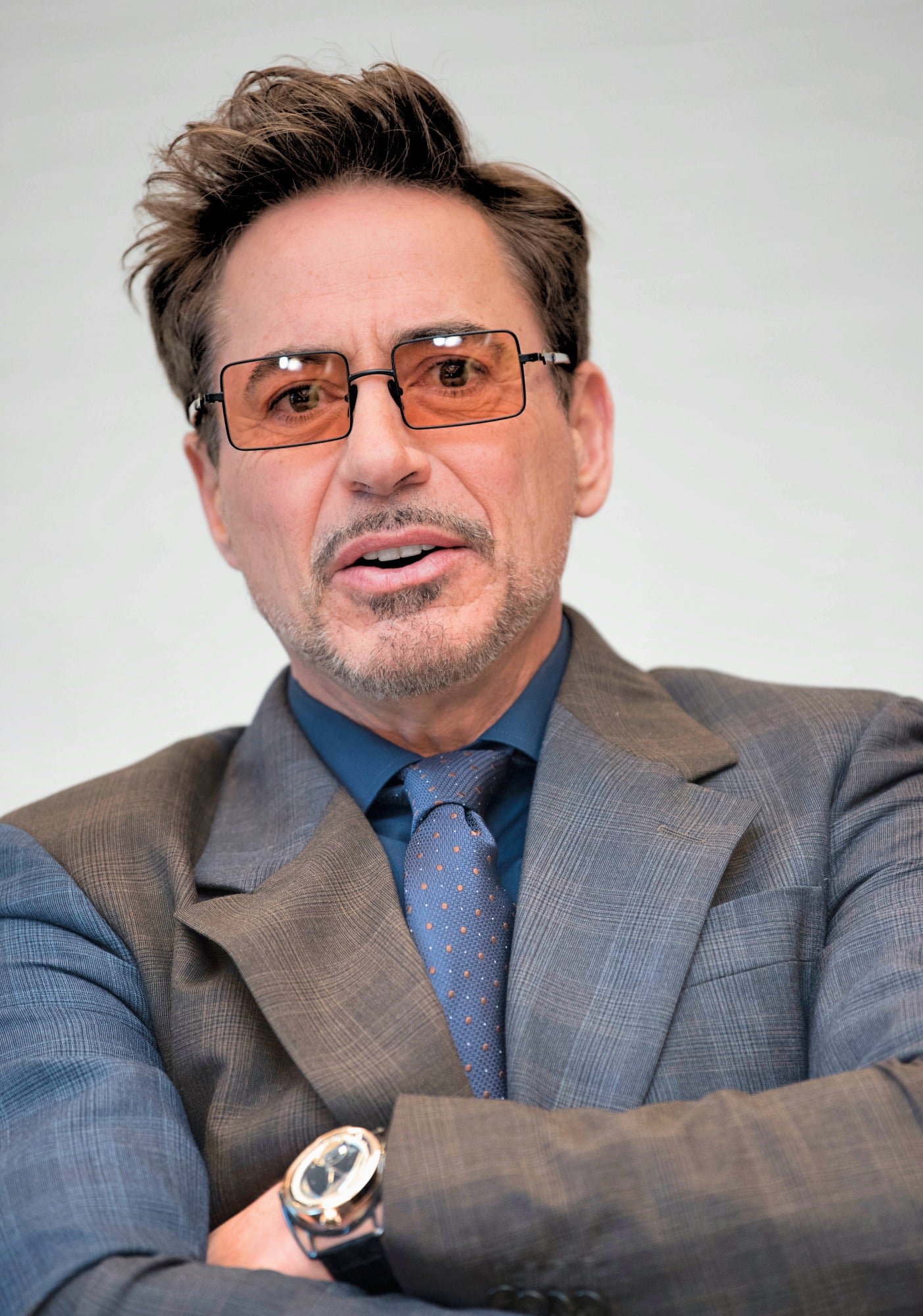 Actor and producer Robert Downey Jr. Golden Globe winner