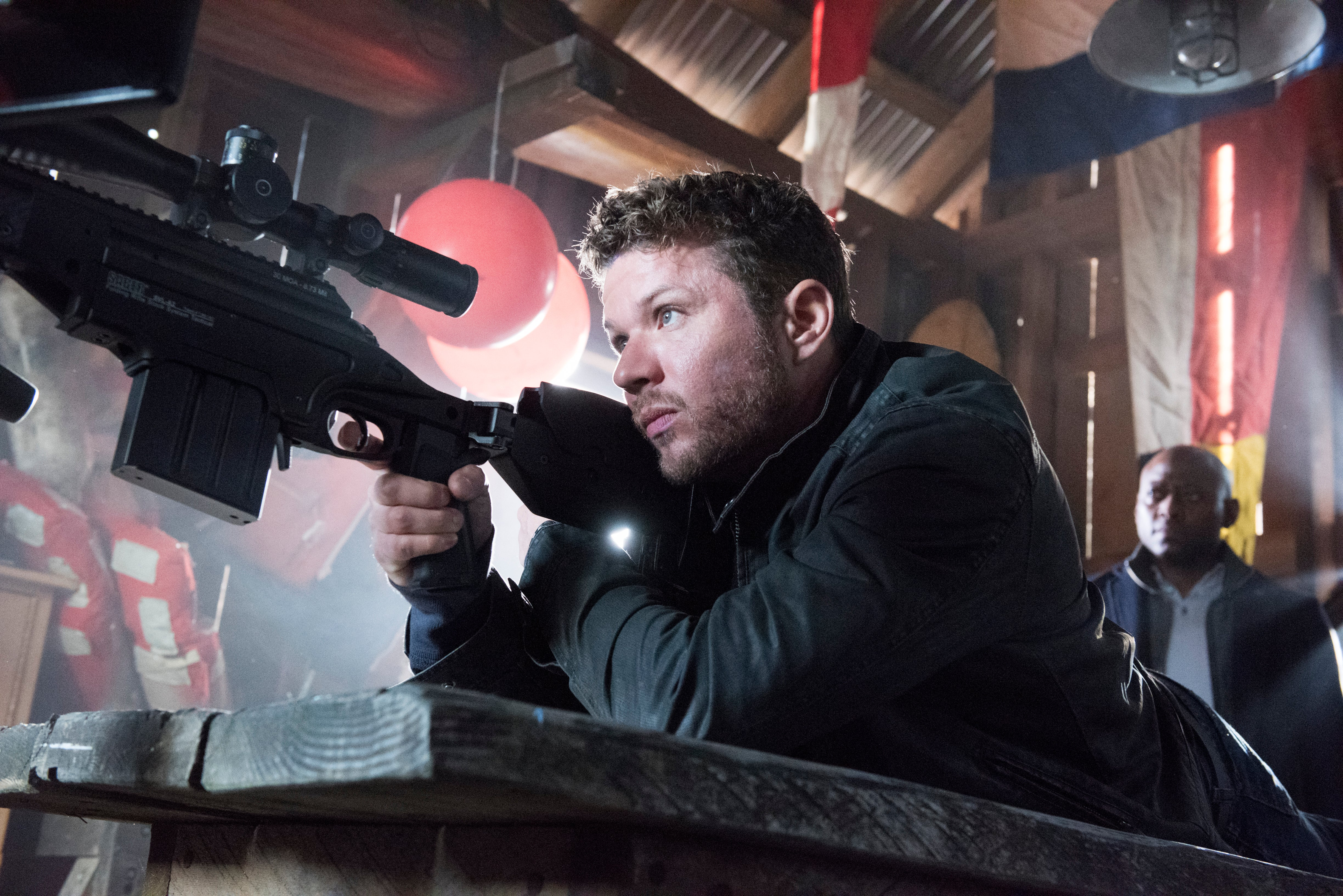 "A scene from the TV series ""Shooter"", featuring Ryan Phllippe"