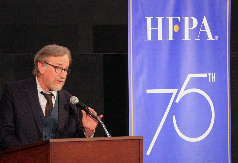 "Filmmaker Steven Spielberg, Golden Globe winner, presents ""A Face in the Crowd"" at the Film Foundation restoration series"