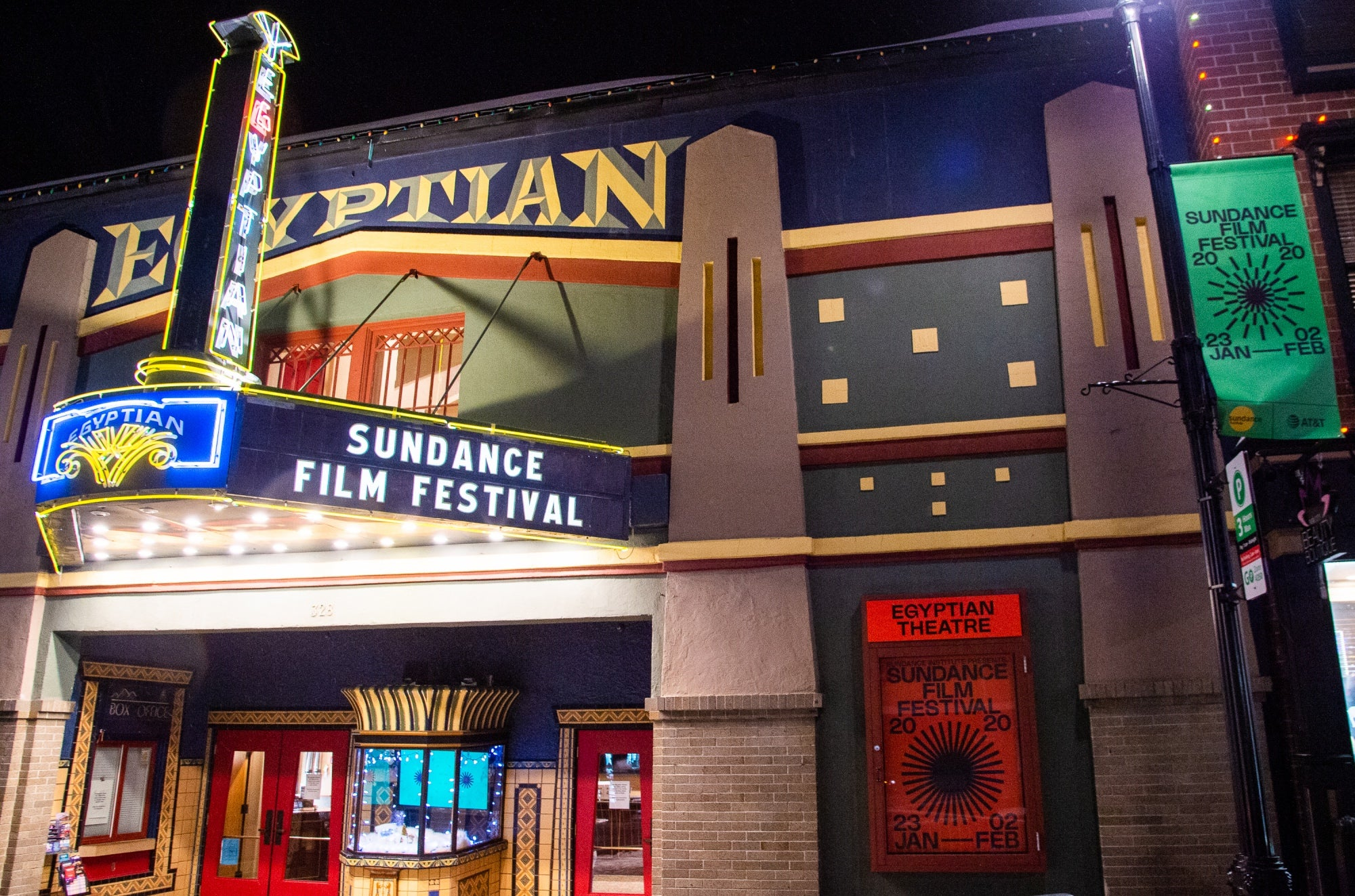 Egyprtian Thetare in park City, Sudnance film festival 2020