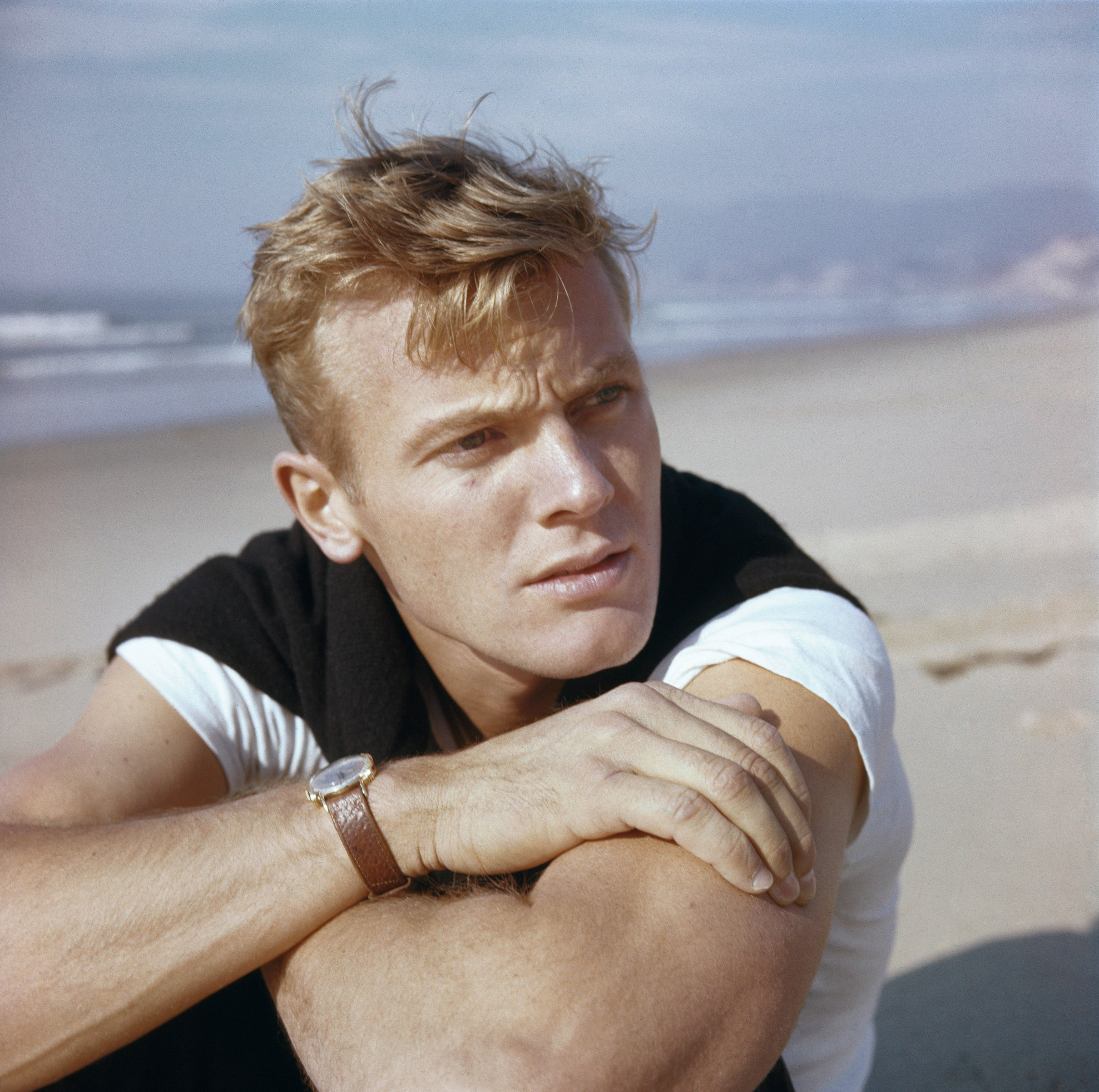 Actor and singer Tab Hunter