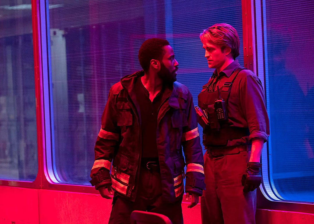 "John David Washington and Robert Pattinson in ""Tenet"" (2020)"