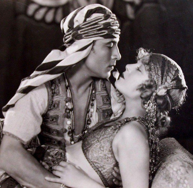 Rudolph Valentino in a scene from The Sheik
