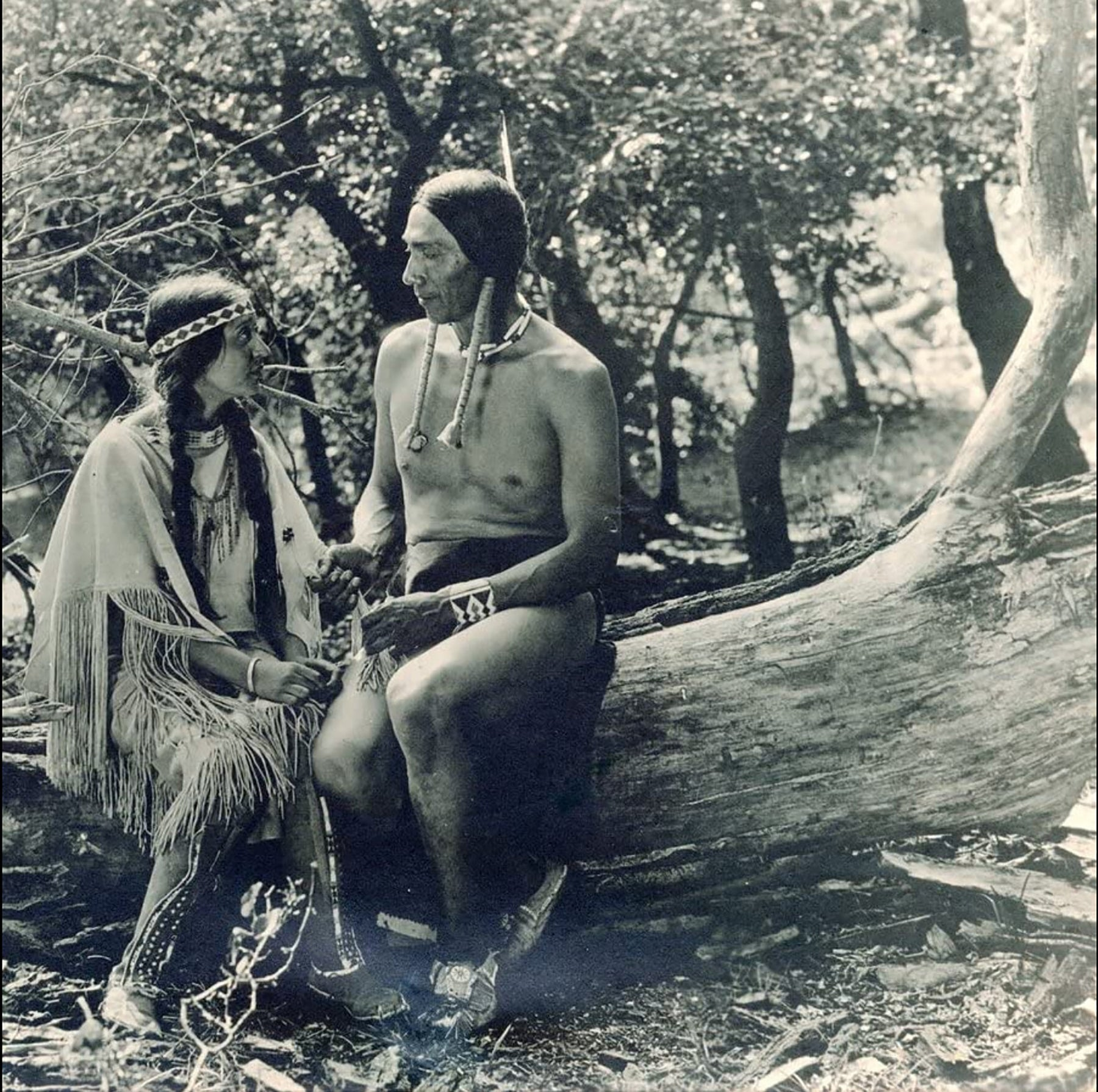 """White Parker and Esther LeBarre in """"The Daughter of Dawn"""" (1920)"""