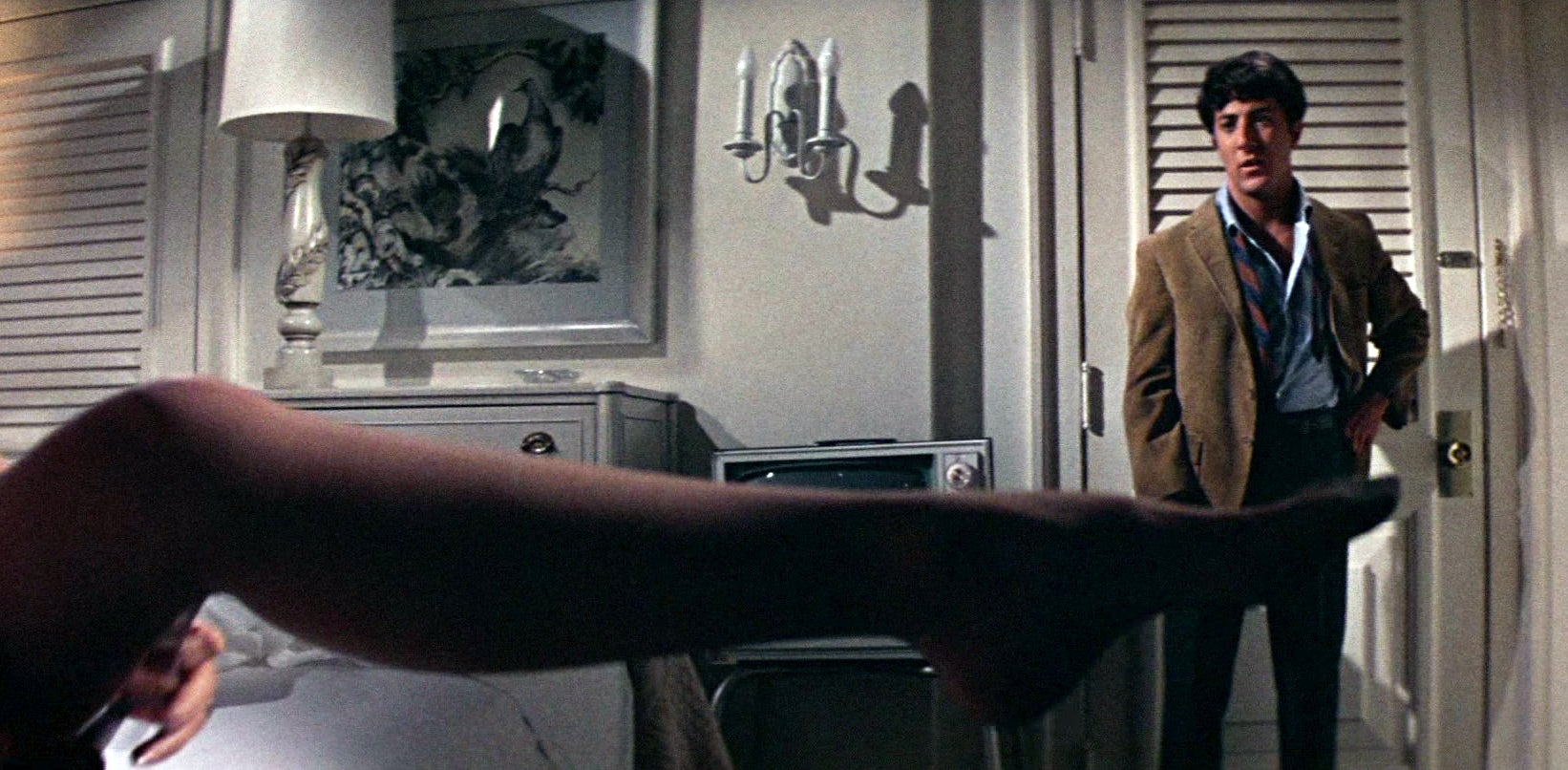 Dustin Hoffman in a scene from The Graduate