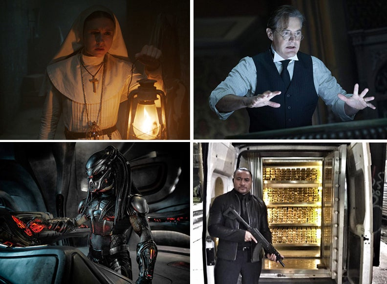 """Scenes from """"The Nun"""", """"The House with a Clock in Its Walls"""", """"The Predator"""", """"Golden Job"""""""
