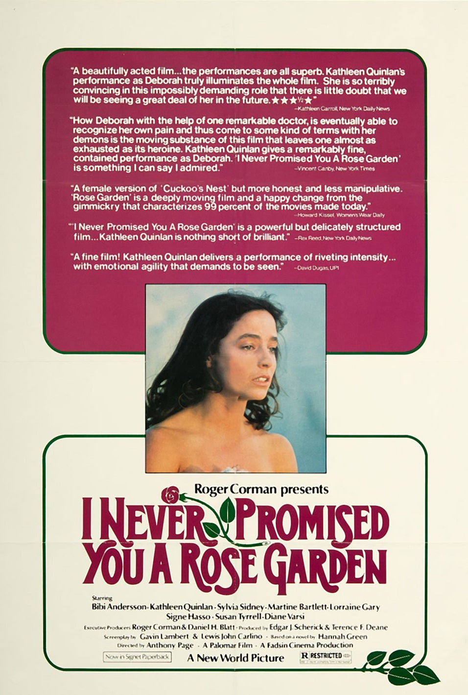 I Never Promised You A Rose Garden Golden Globes