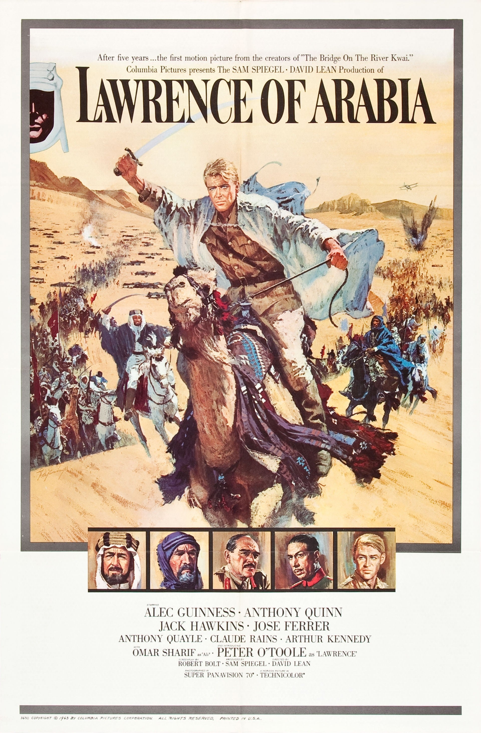 the journey of lawrence and his conflicted experiences during wwi in the film lawrence of arabia