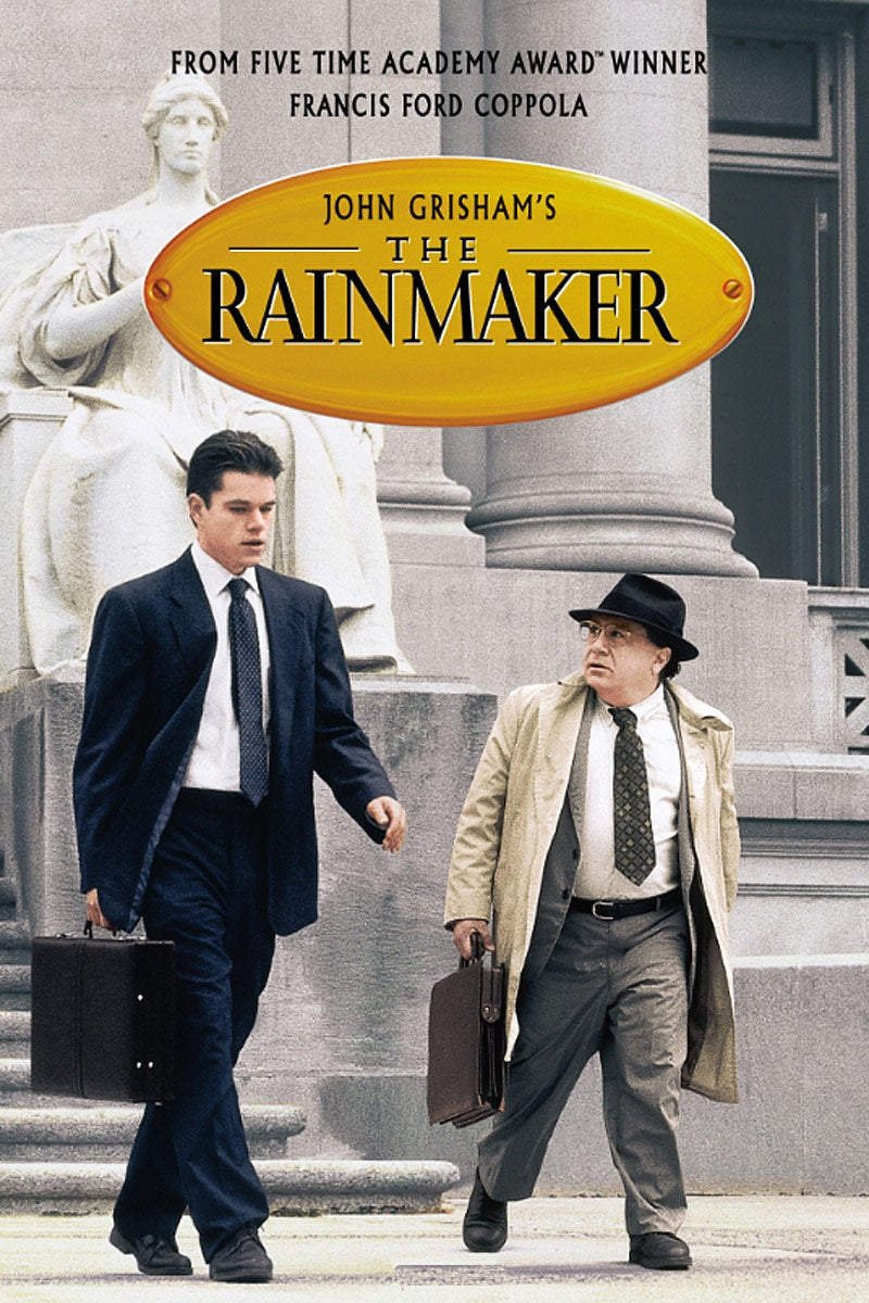 an analysis of john grishams the rainmaker Francis ford coppola directs and scripts an exciting, star-packed adaptation of john grisham's novel about an idealistic young attorney who takes on the case of a lifetime.