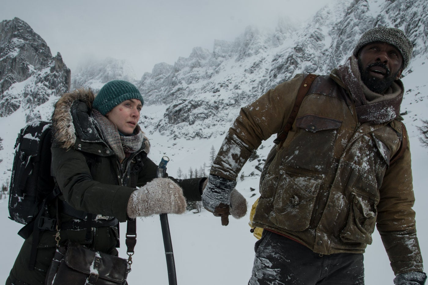 A scene from the movie The Mountain Between Us