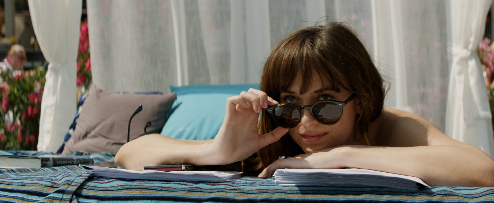Dakota Johnson in ascene from 50 Shades Freed
