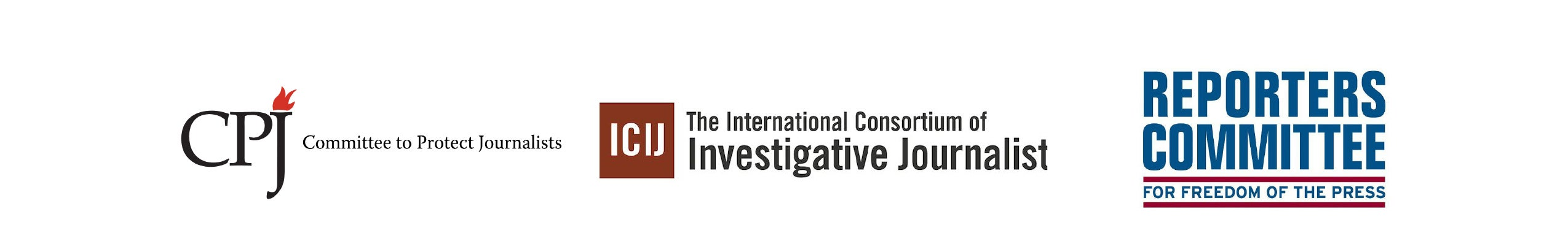 Committee to Protect Journalists, International Consortium of Investigative Journalists, and the Reporters Committee for Freedom of the Press