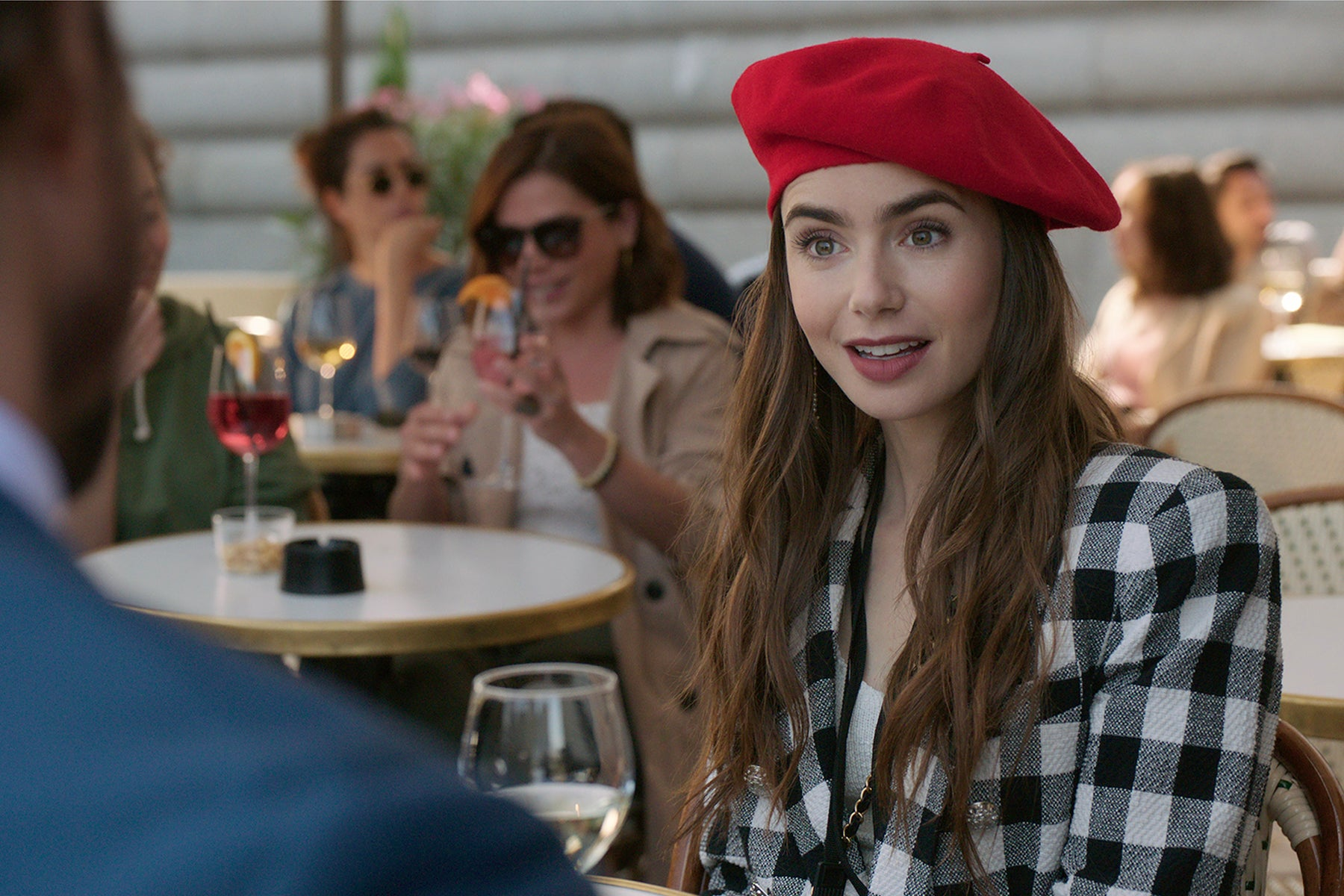 """Lily Collins in """"Emily in Paris"""" (2020)"""
