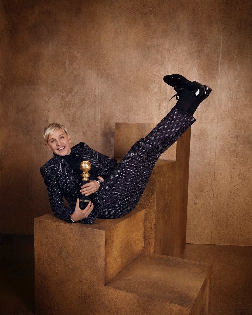 Actress and TV host Ellen DeGeneres, Golden Globe nominee