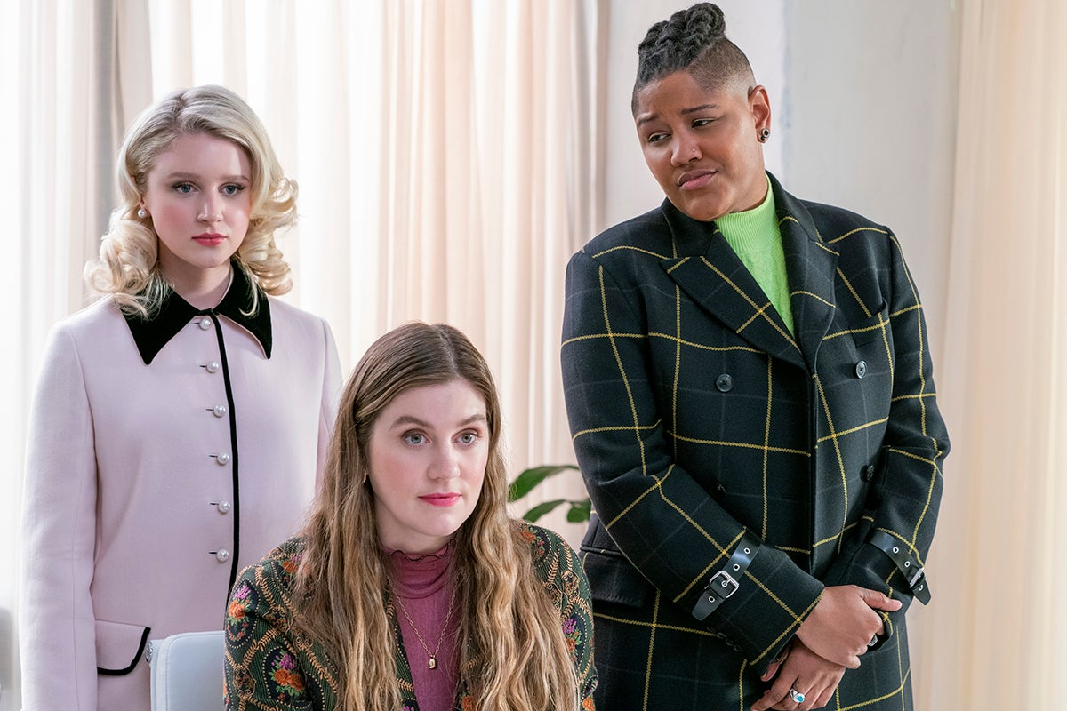 Julia Schlaepfer plays Alice Charles. Laura Dreyfuss is McAfee Westbrooke and Rahne Jones plays Skye Leighton. They all work for Payton on his political campaign.