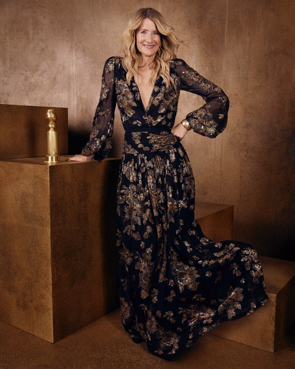 Actor Laura Dern. Golden Globe winner