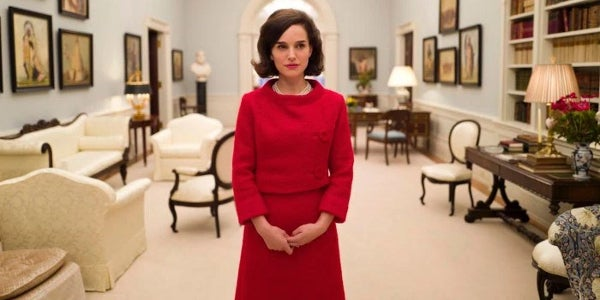 Actress Natalie Portman, Golden Globe winner, in a scene from 'Jackie'