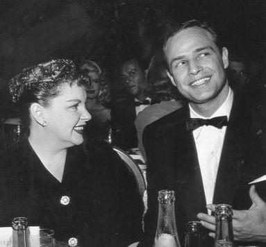 At the 1955 Golden Globes, Judy Garland and Marlon Brando