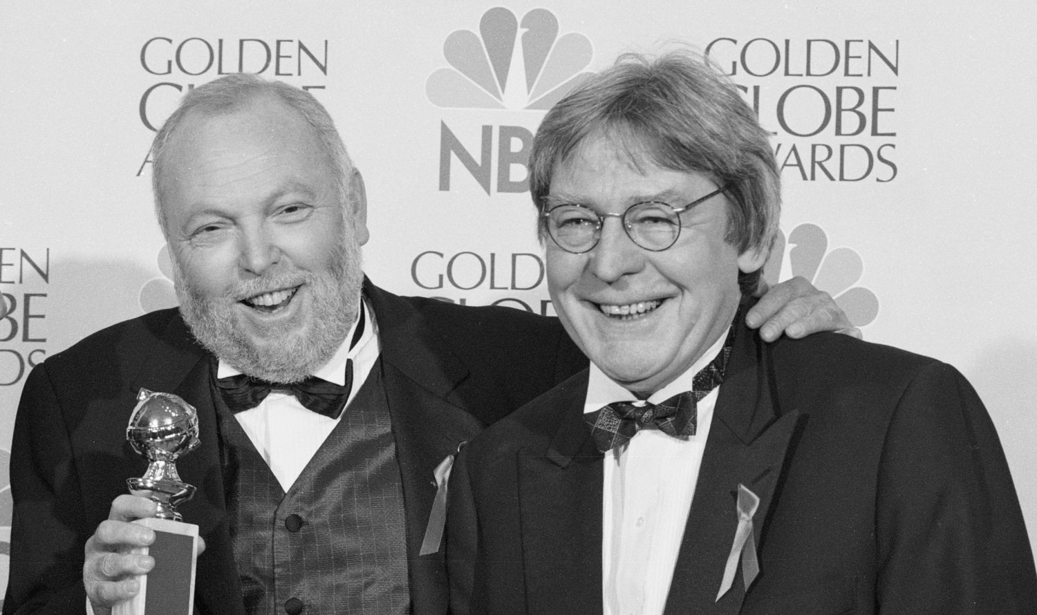 Producer Andrew Vajna and director Alan Parker, Golden Globes, 1997