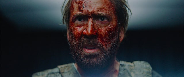 "Nicolas Cage in a scene from ""Mandy"""