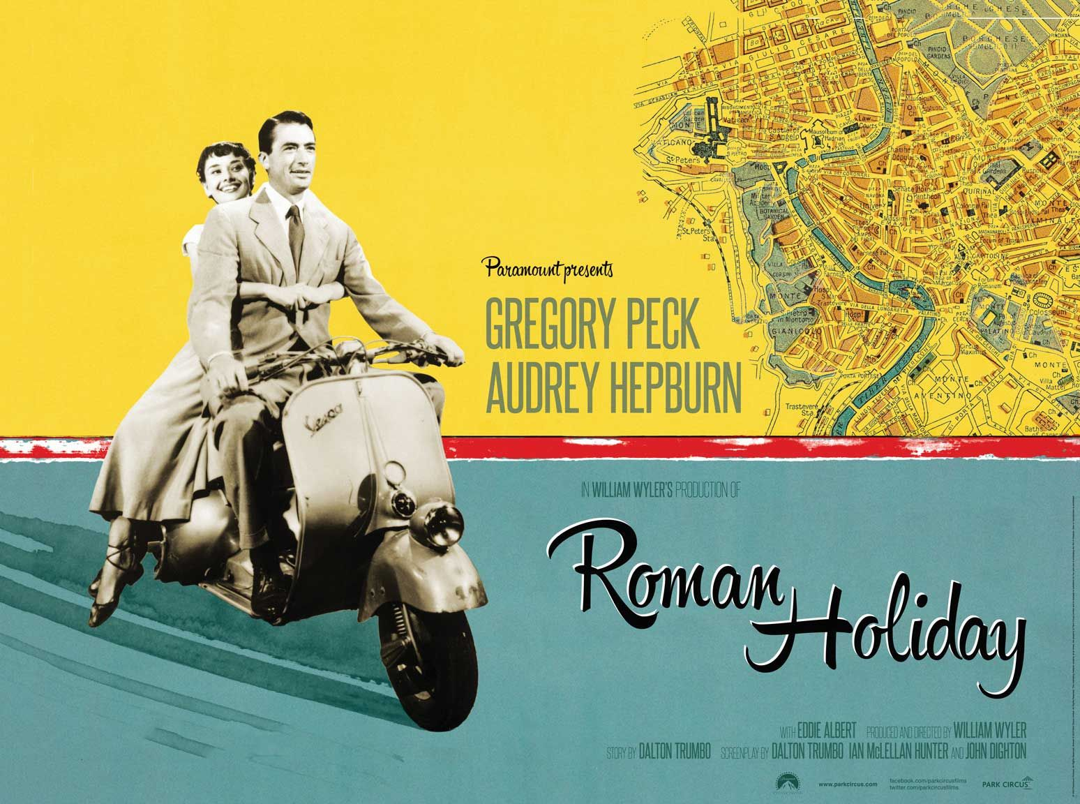 """The poster for """"Roman Holiday"""", 1953"""
