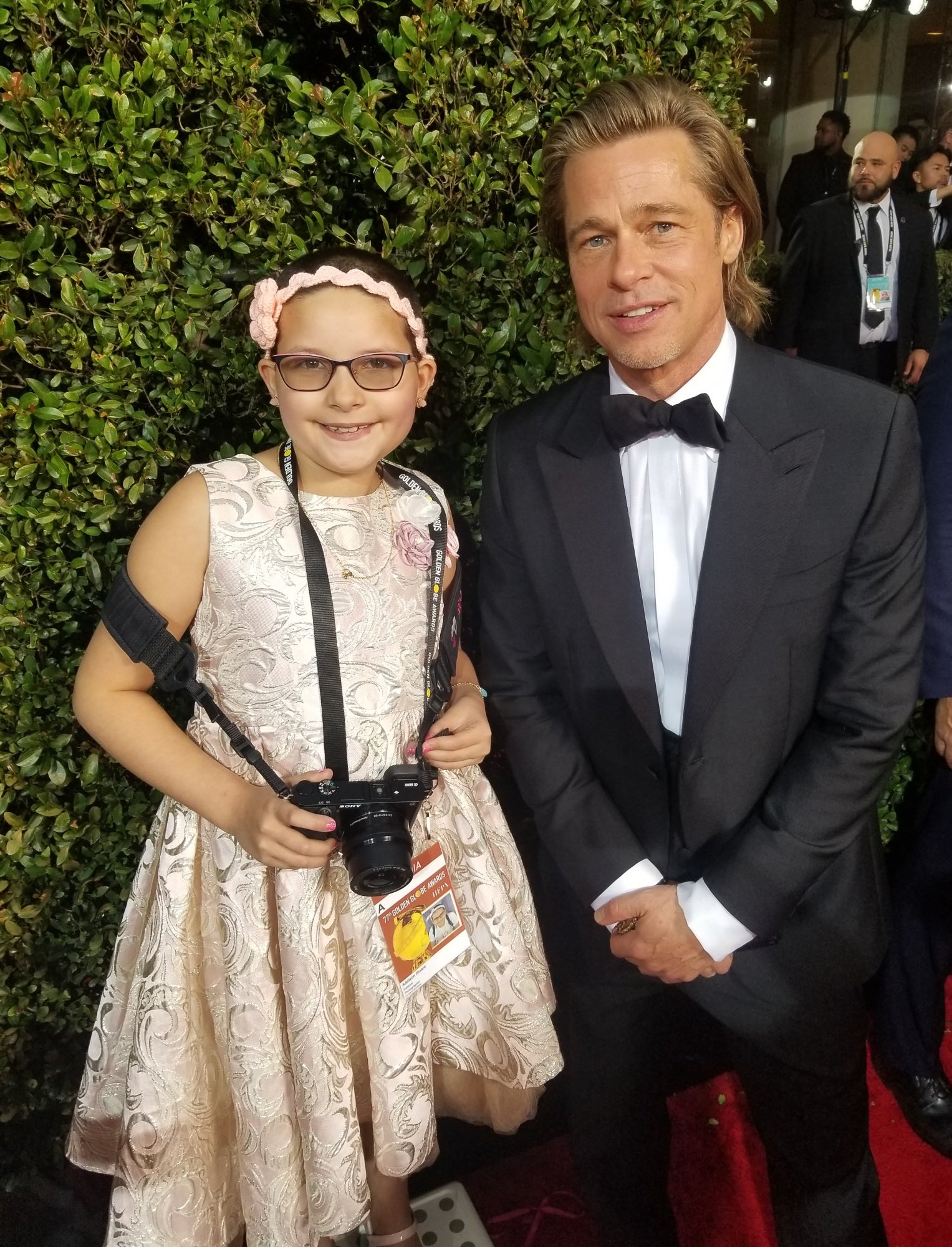 Addison Rivera and Brad Pitt