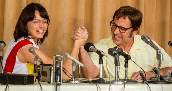Emma Stone and Steve Carell