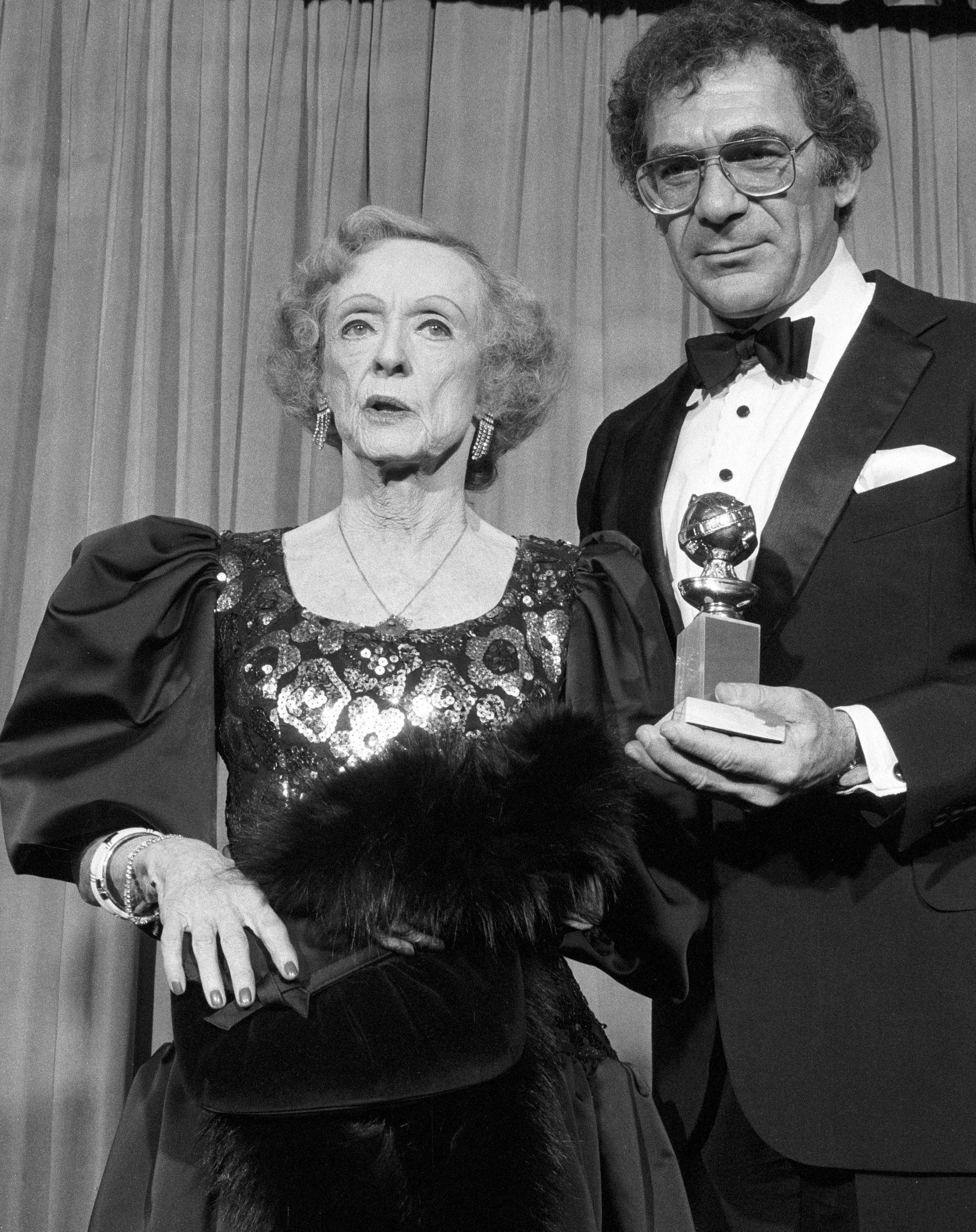 Bette Davis and Sydney Pollack, Golden Globes 1986