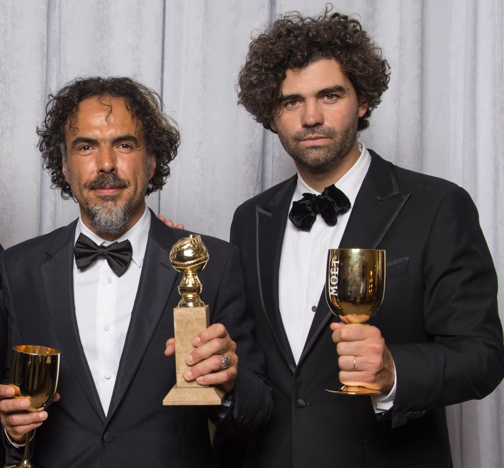 Armano Bo and Alejandro Iñarritu. Golden Globes 2015