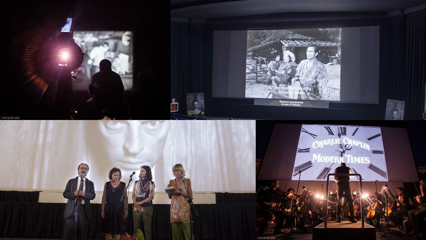 Scenes from the Cinema Ritrovato festival