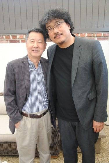Director Bong Joon Ho and HFPA member HJ Park