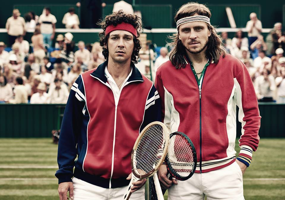 A scene from the movie Borg McEnroe