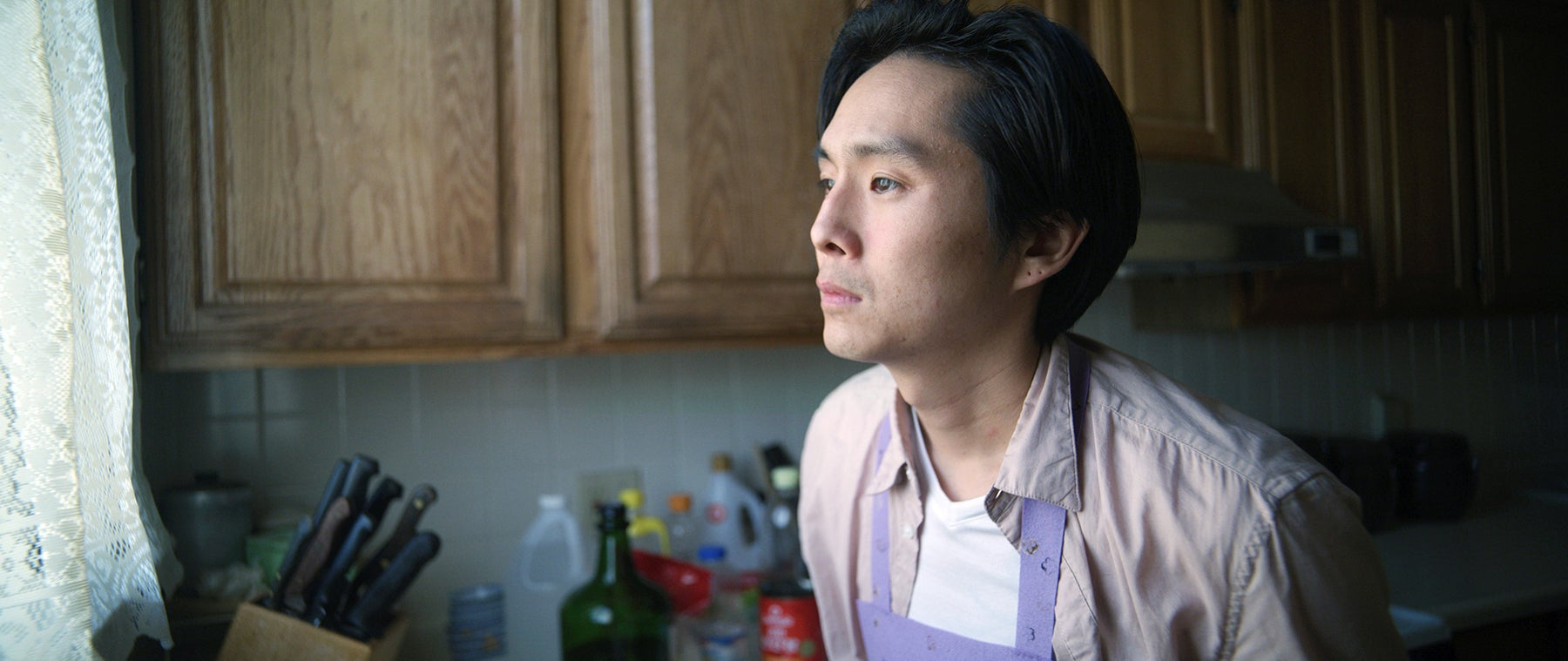 """Justin Chon in """"Coming Home Again"""" (2019)"""