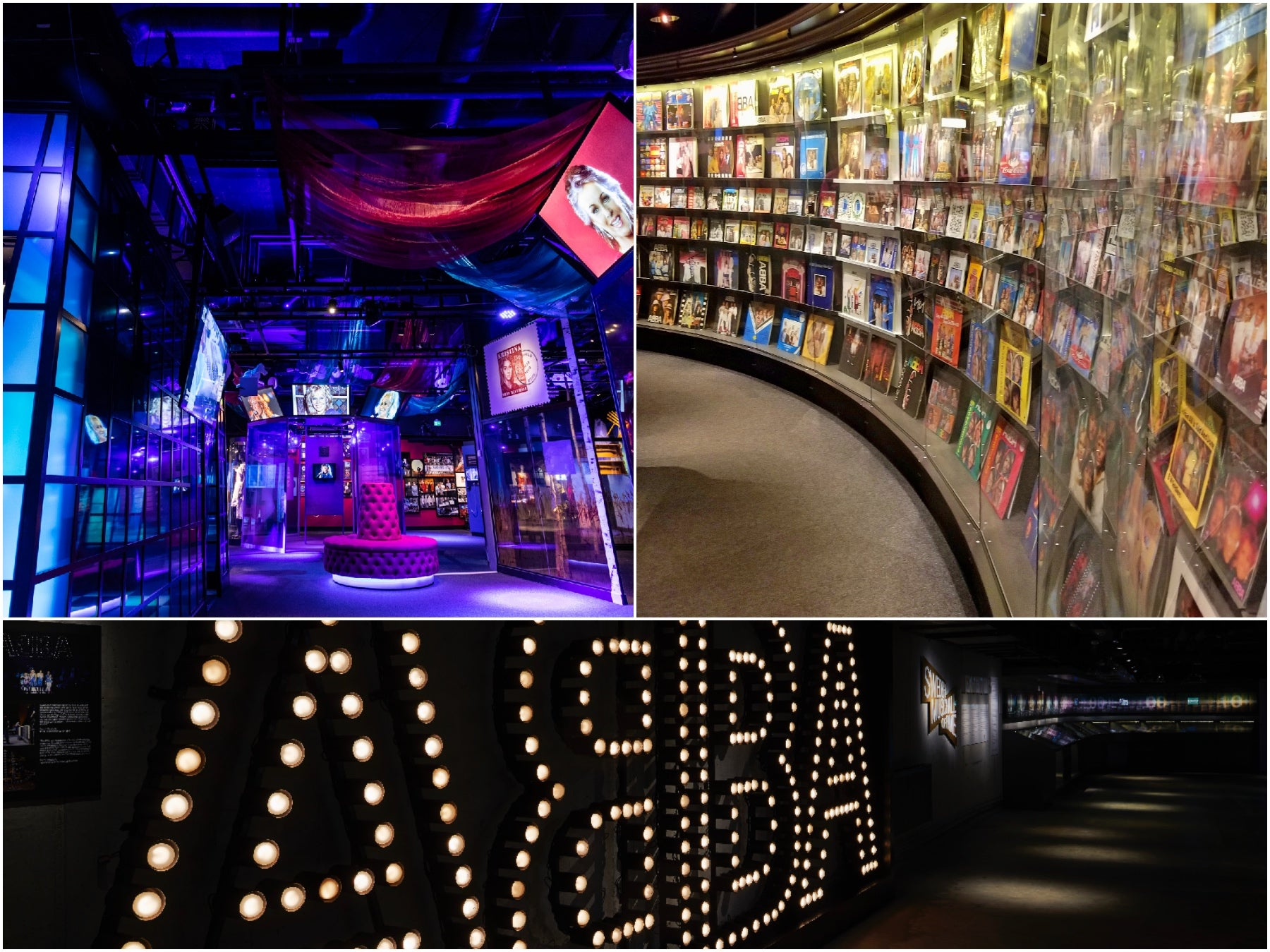 Inside the ABBA museum in Stockholm, Sweden