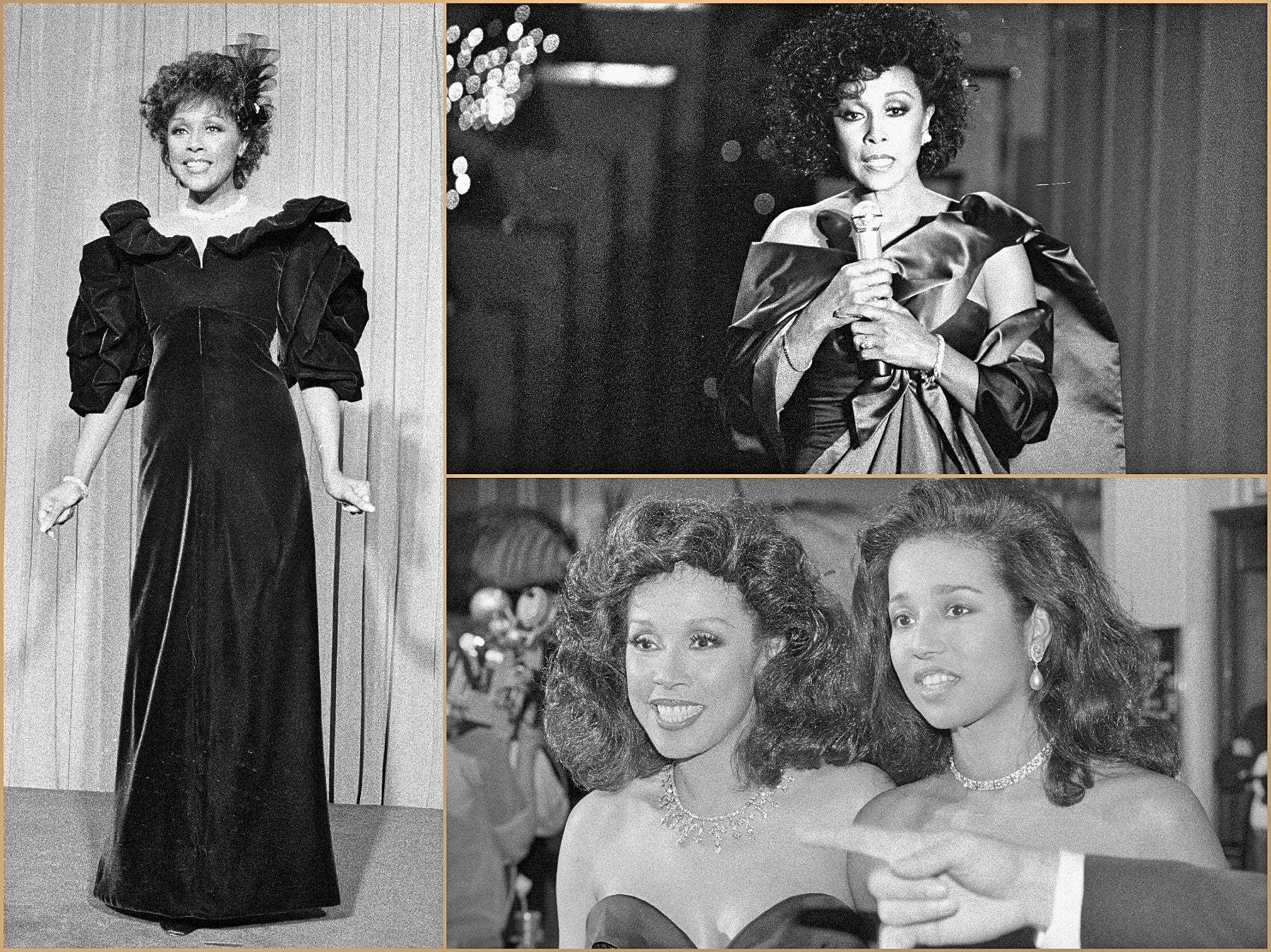 Actress and singer Diahann Carroll, Golden Globe winner, at the Golden Globes
