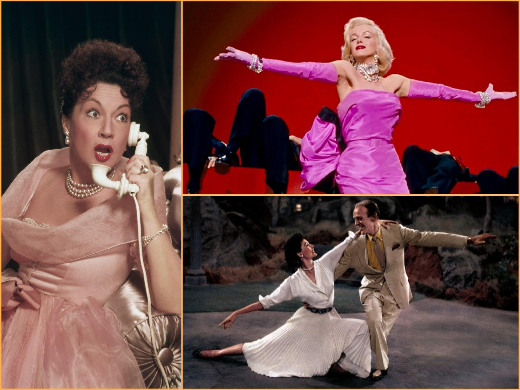 "Scenes from ""The Band WAgpn"", ""Call Me Madam "" and ""Gentlemen Prefer Blondes"""