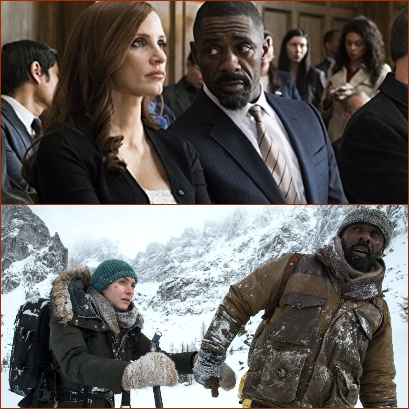 Scenes from The Mountain Between Us and Molly's Game