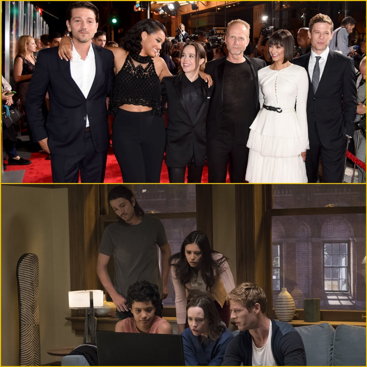 Director Niels Arden Oplev and the cast of Flatliners