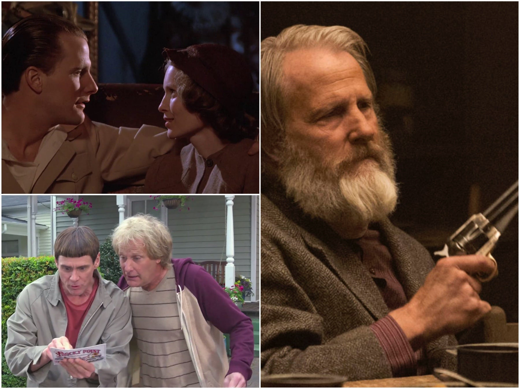 Scenes from filsma nd Tv series starring Jeff Daniels
