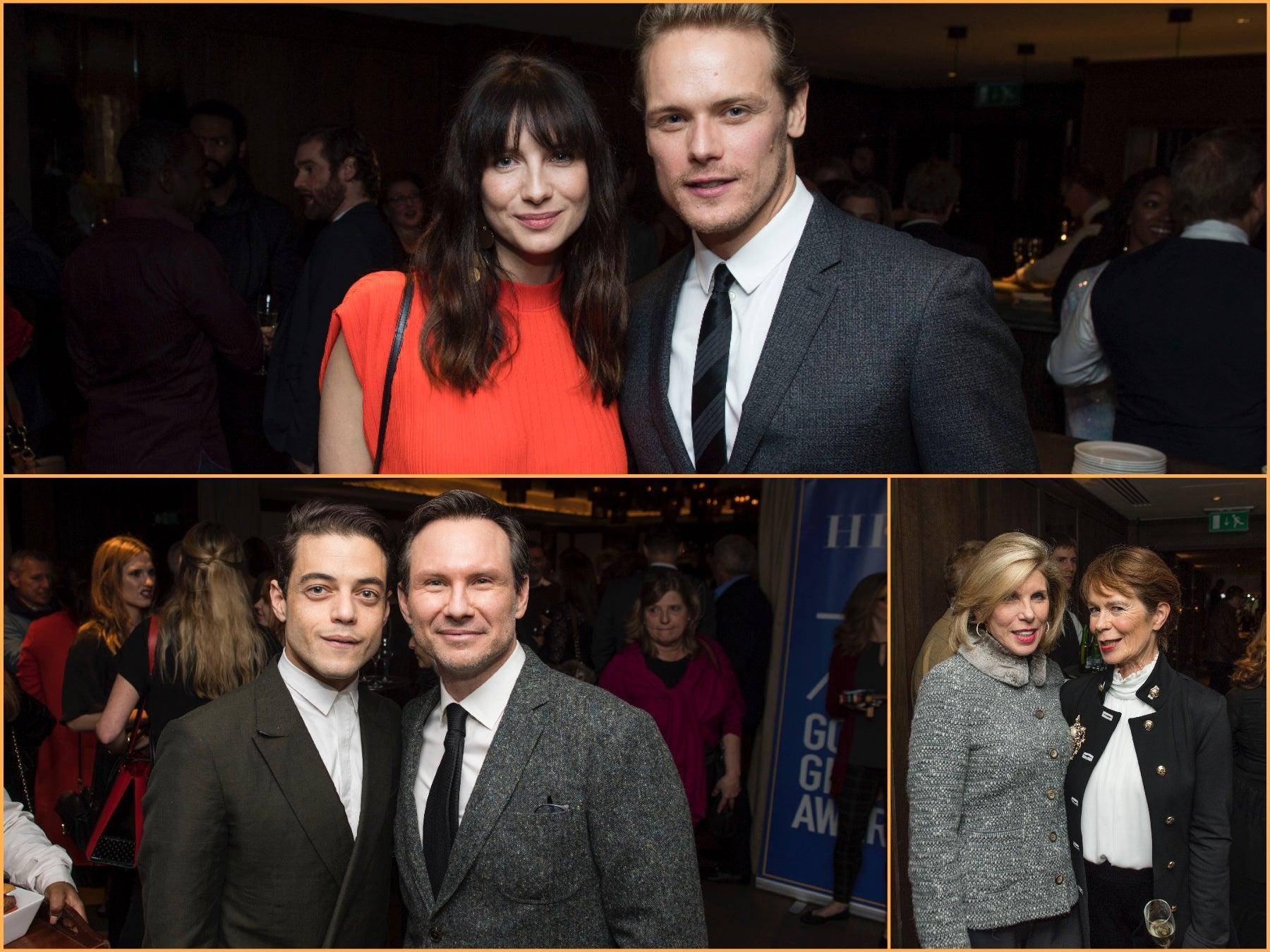 Stars at the London Golden Globe reception, november 2017