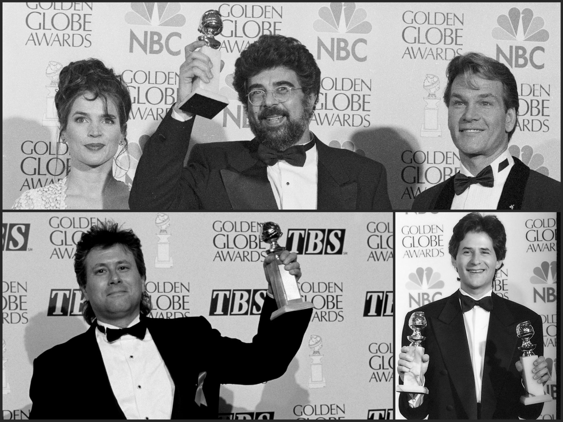 Gabriel Yared, Alan Menken and James Horner, Golden Globe winners