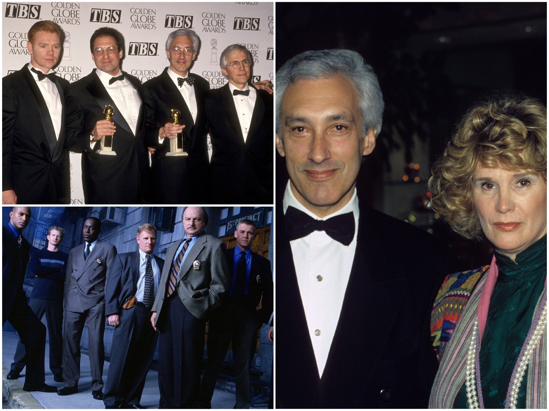 the cast and Golden Globes of NYPD Blue