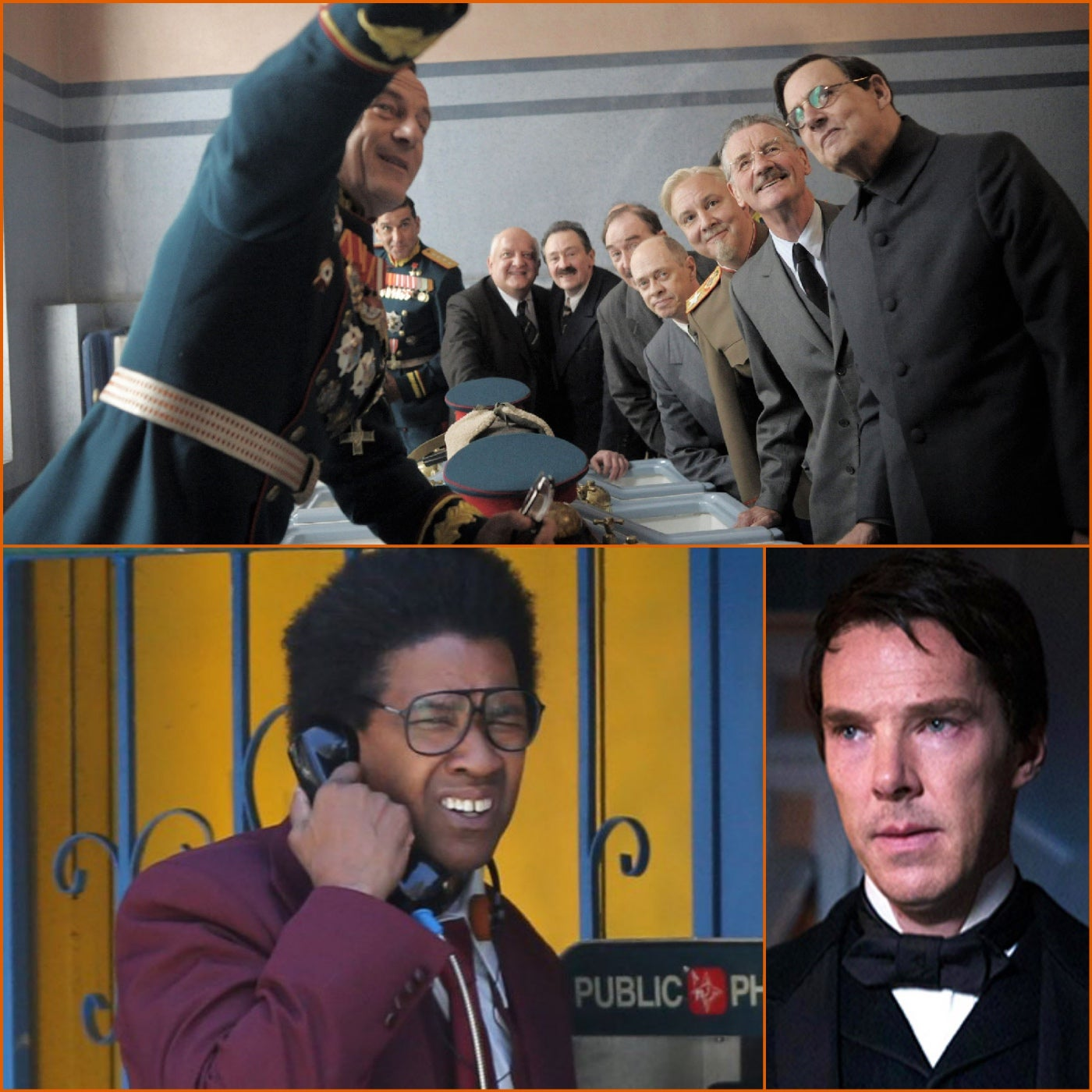 Scenes from some TIFF films: The Current War, Roman J Israel, Esq and The Death of Stalin