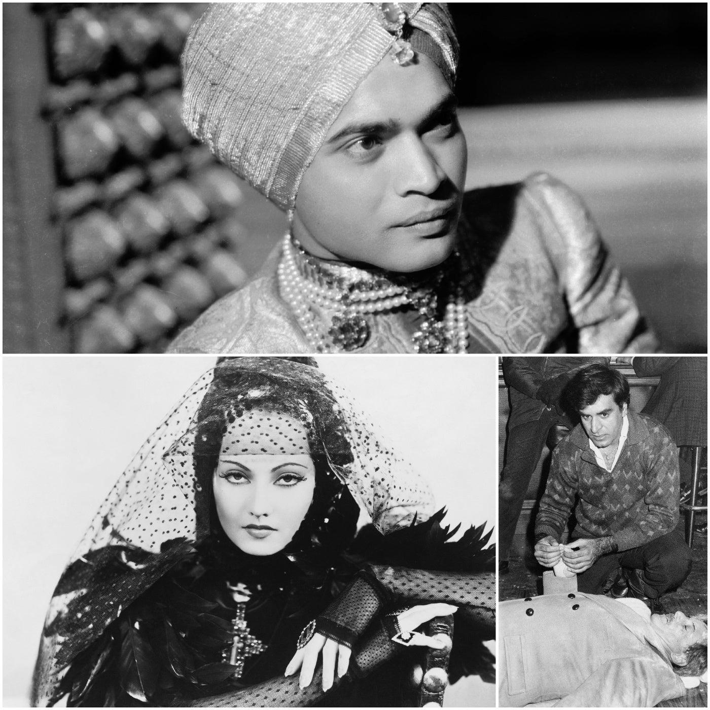 Actors Sabu, Merle Oberon and Kavi Raz