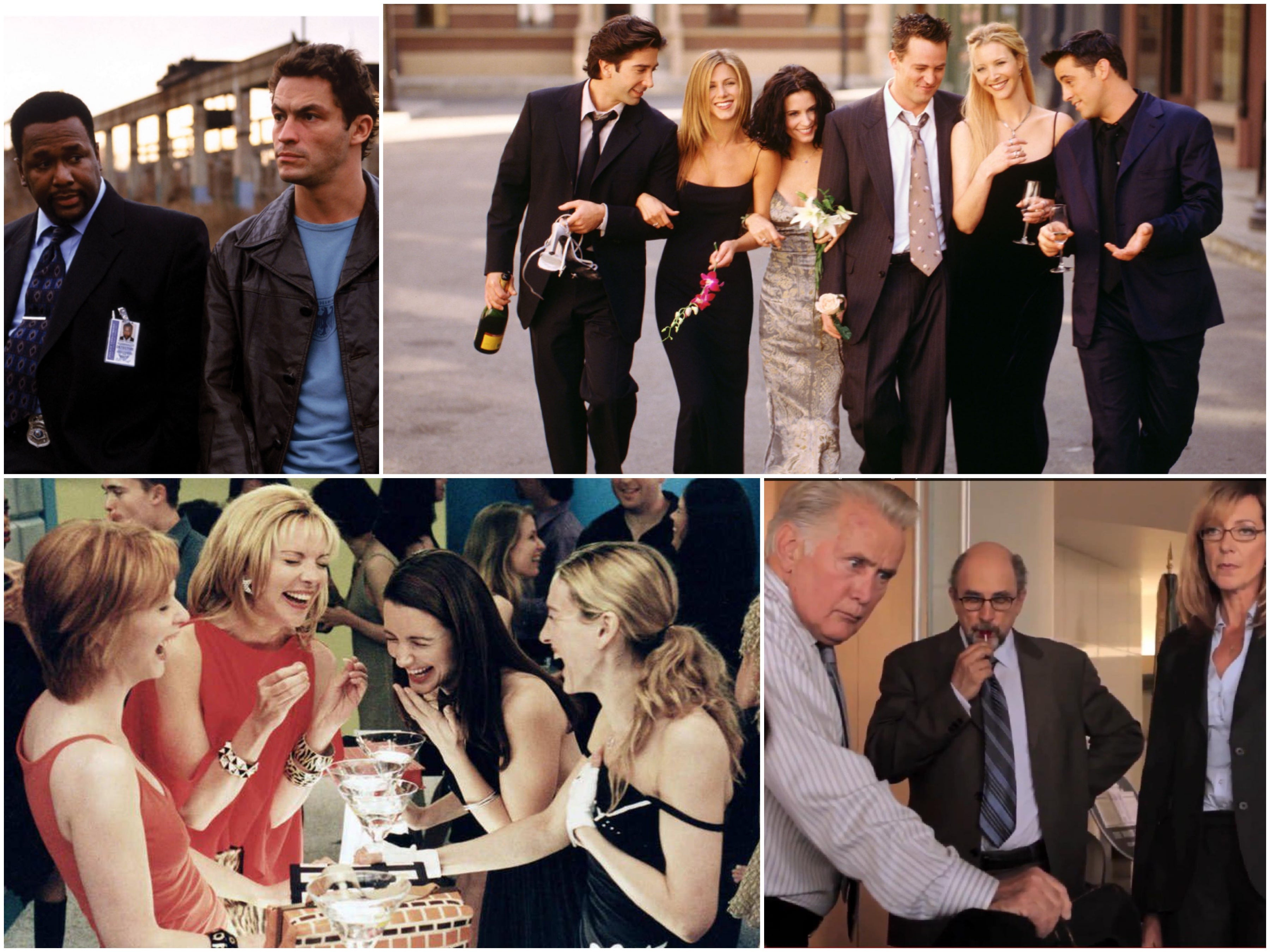 Scenes from Friends, The Wire, Sex and the City and West Wing