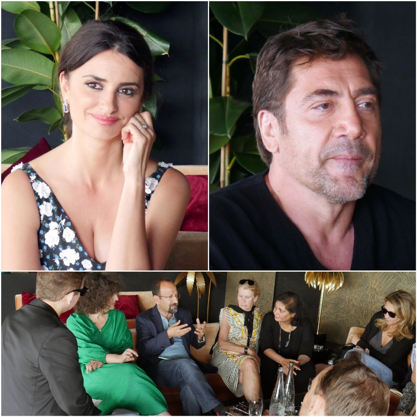 Filmmaker and actors of Todos lo saben in Cannes 2018 meet the HFPA