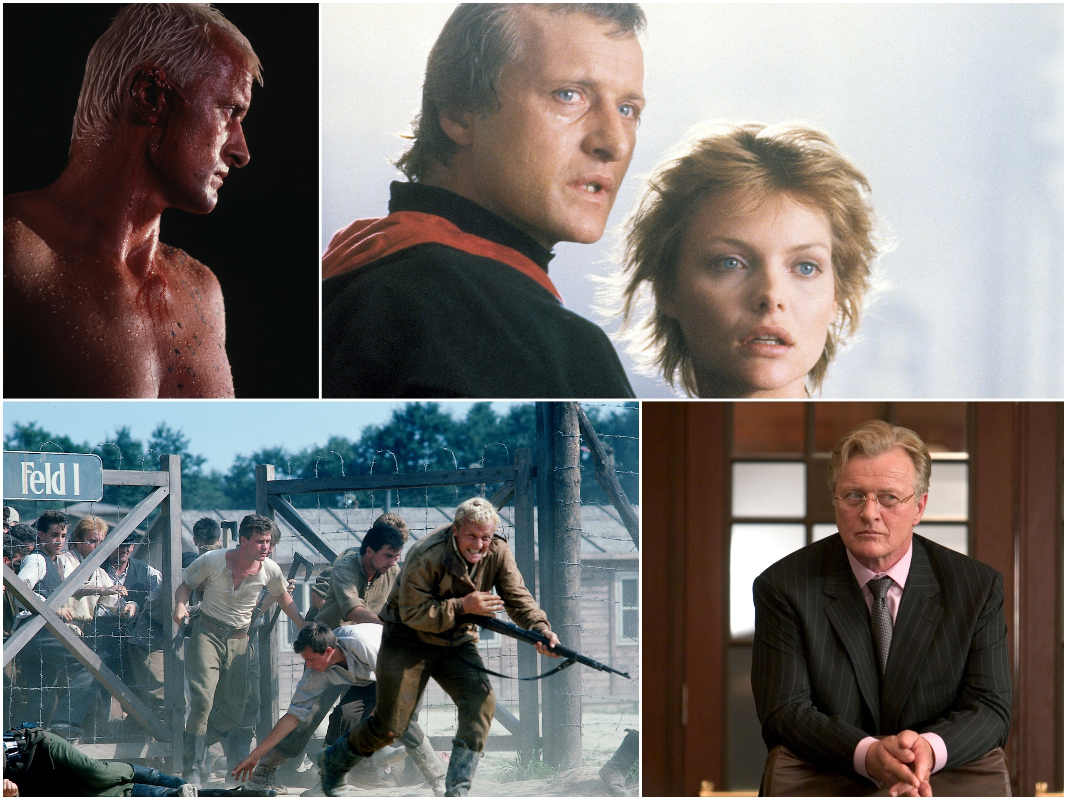 Scenes from films starring Rutger Hauer