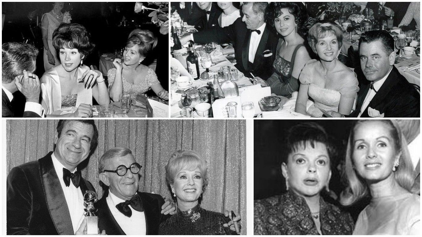 Debbie Reynolds at the Golden Globes