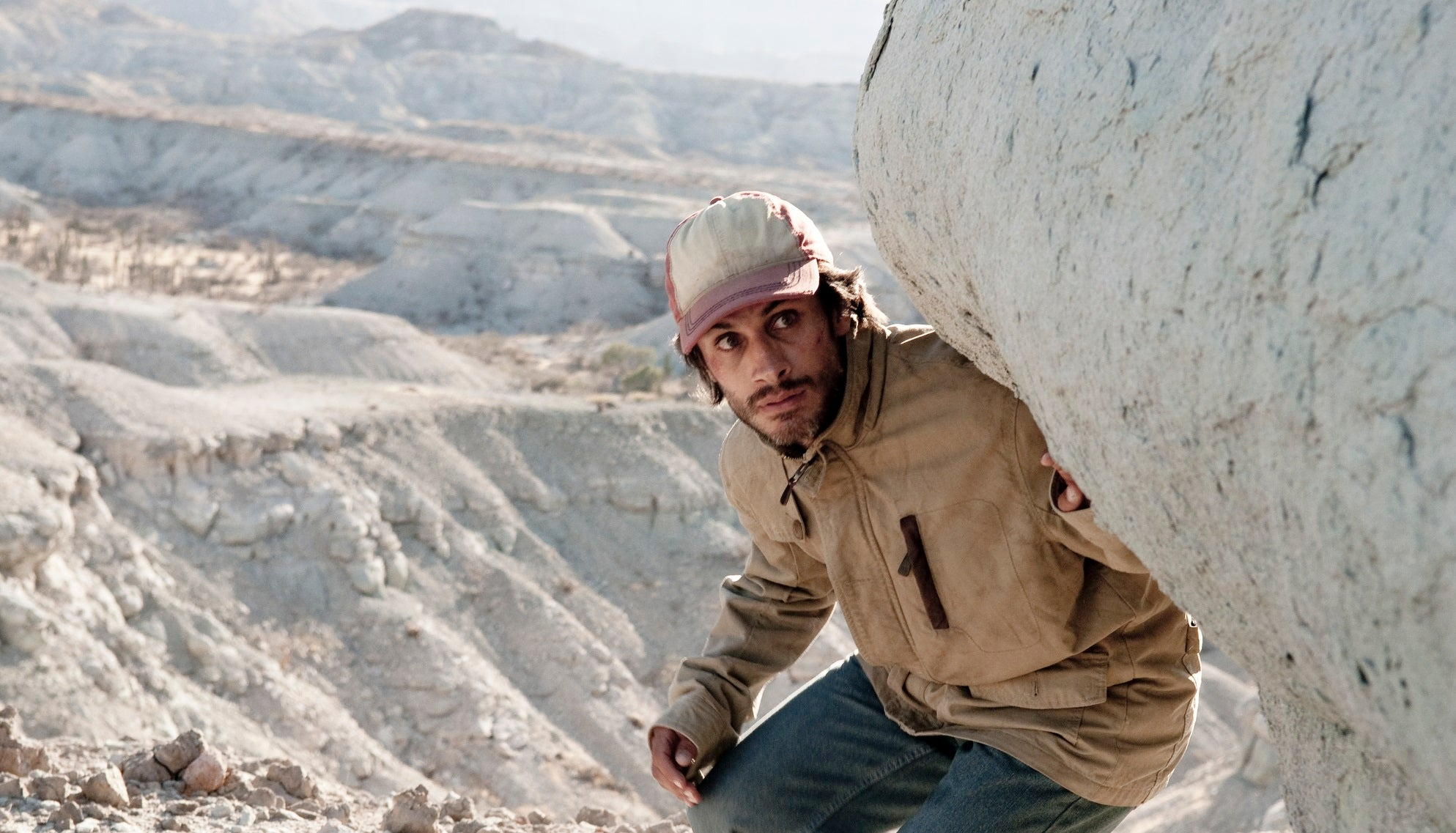 "Golden Globe winner Gael Garcia Bernal in a scene from ""Desierto\"""