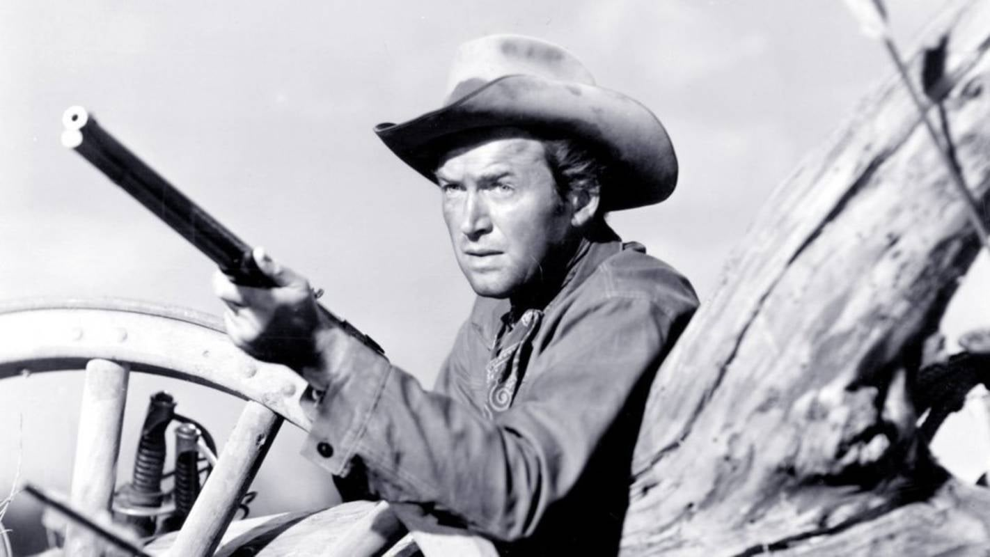 "James Stewart in ascene from ""Winchester 73"""